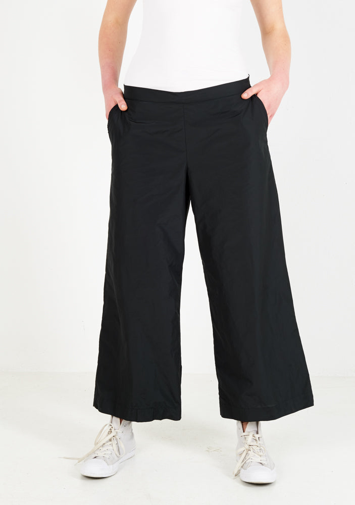 Pants wide, black