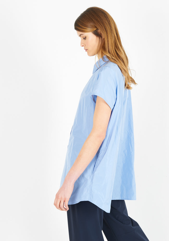 Summer blouse, short sleeve, iris