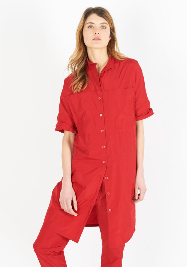 Pocket Dress, tomato