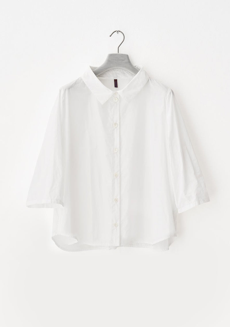 Summer blouse, short, white