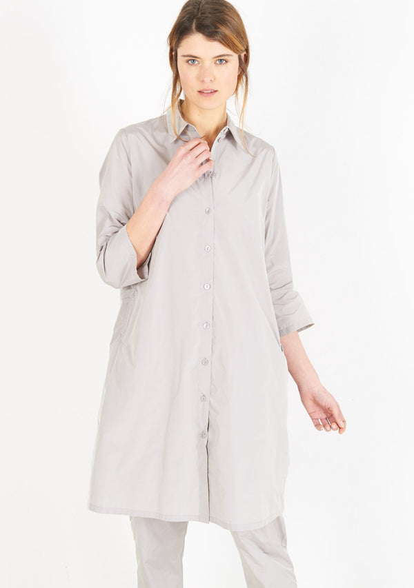Shirtdress, half sleeve, mauve