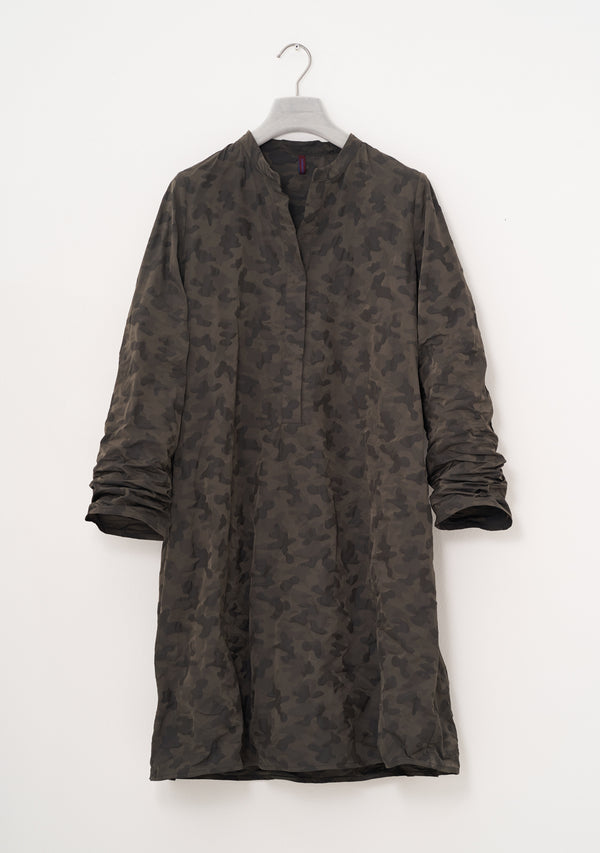 Camouflage Dress, two-tone Taffeta, umbra