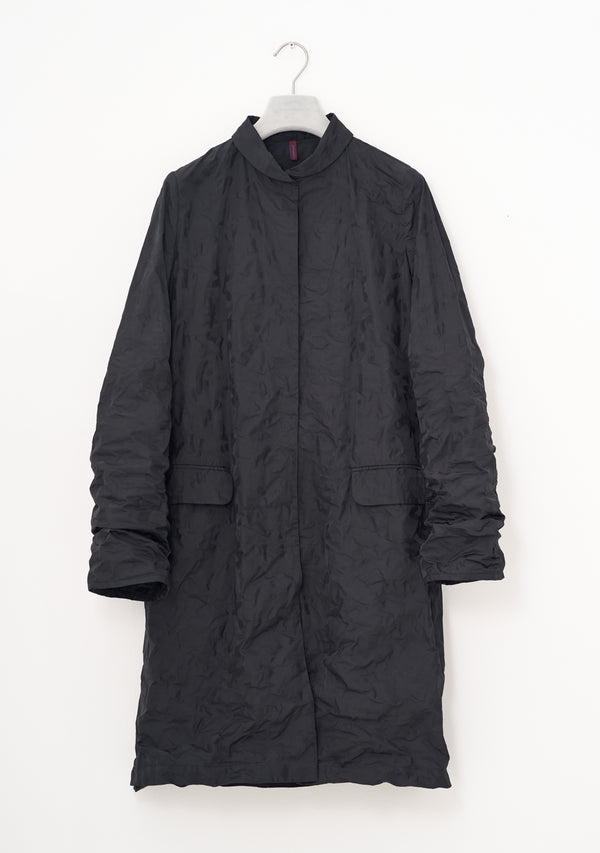 Two-tone Coat, two-tone Taffeta, black