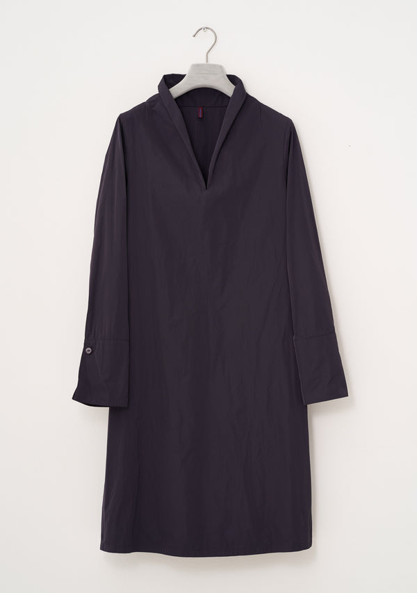 Plain Dress, heavy Taffeta, plum
