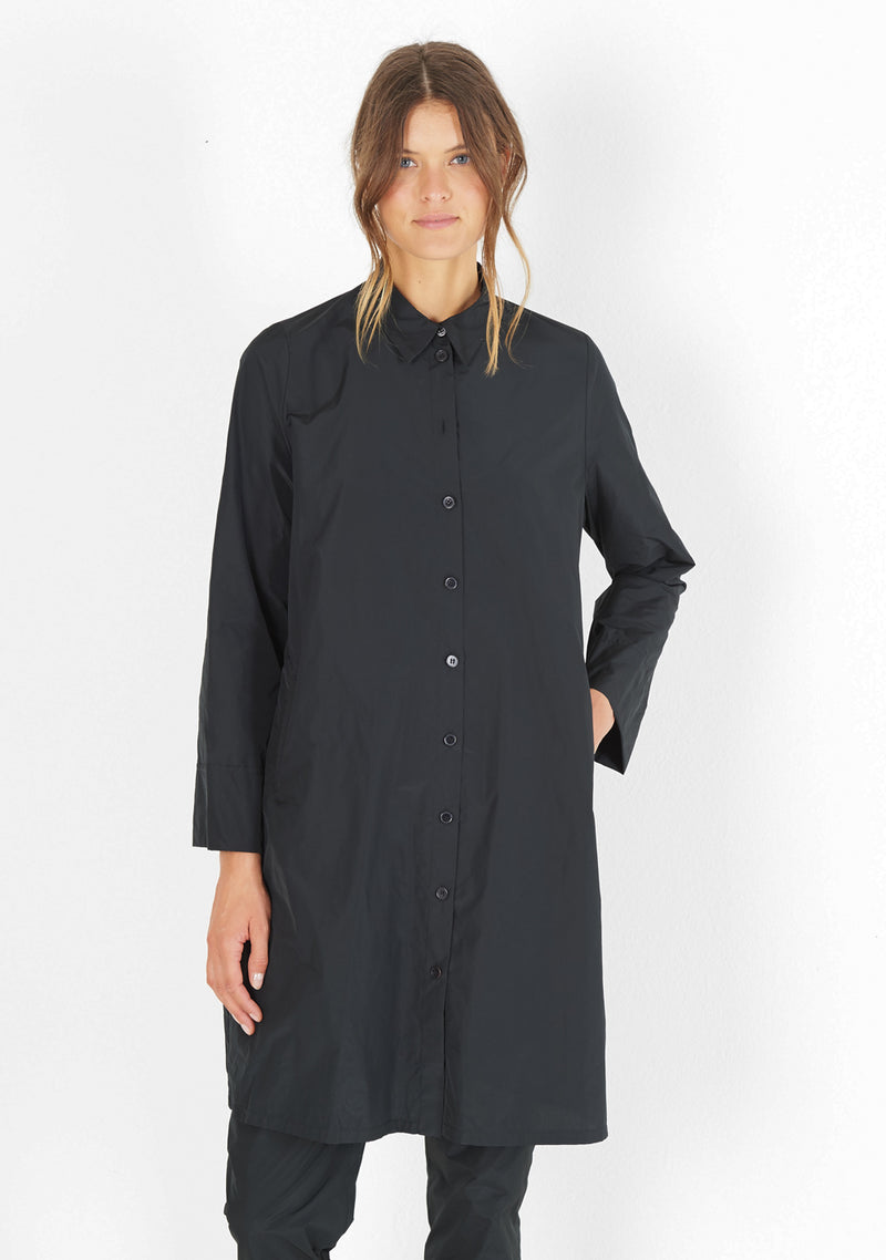 Hemdblusenkleid, long sleeve, black