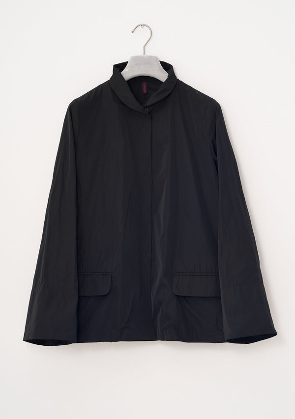 Short Jacket, heavy Taffeta, black
