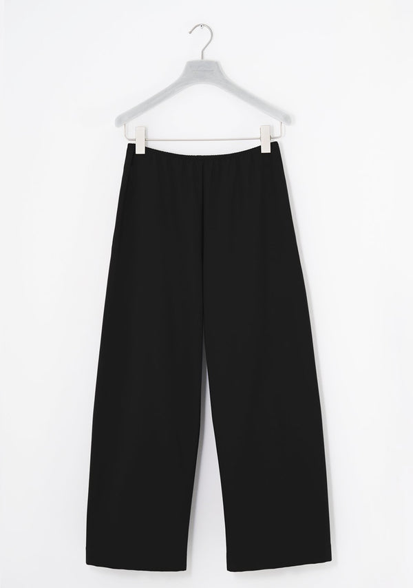 Stretch Pants wide, siebenachtel, Winterpure, black