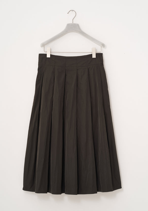 Pleated Skirt, heavy Taffeta, umbra