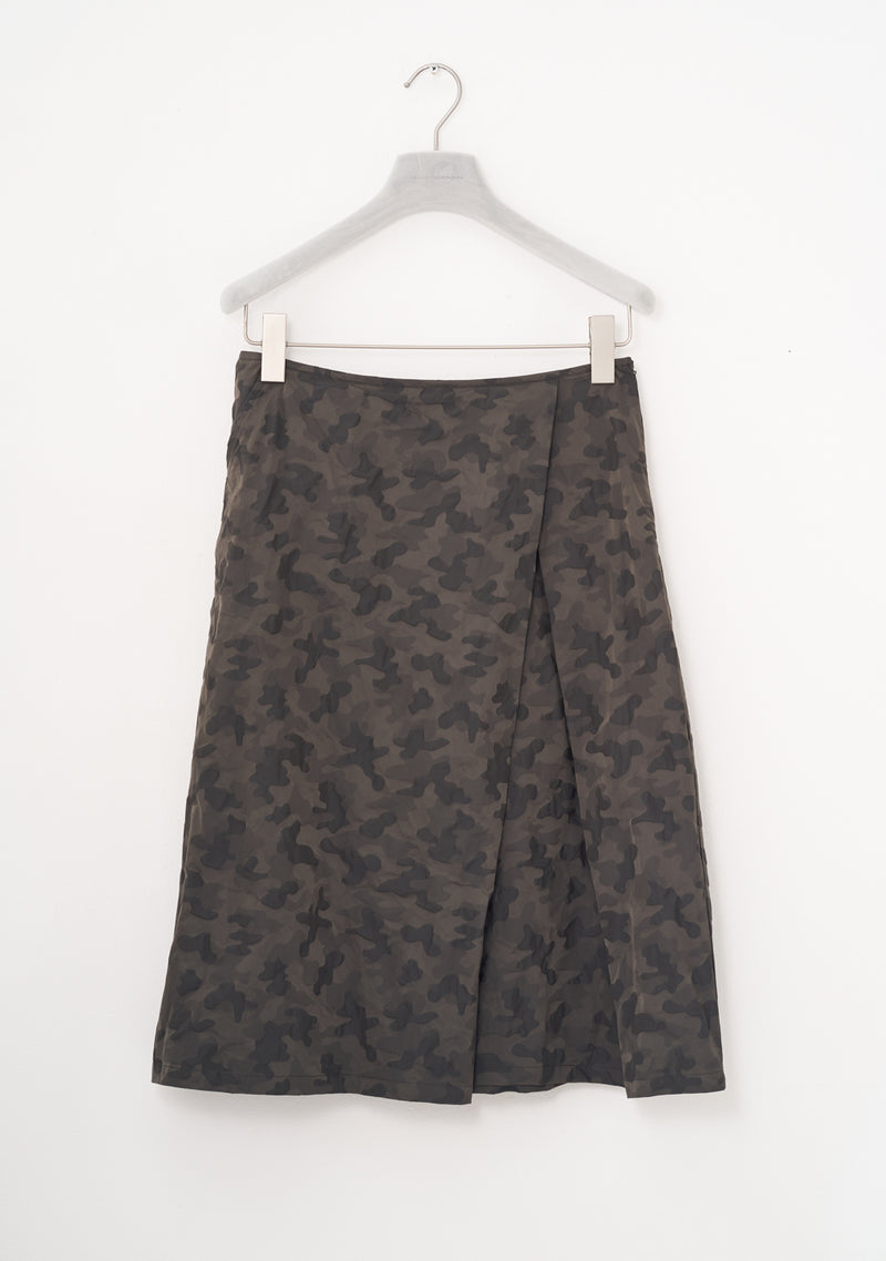 Rock Falte, short, two-tone Taffeta, umbra