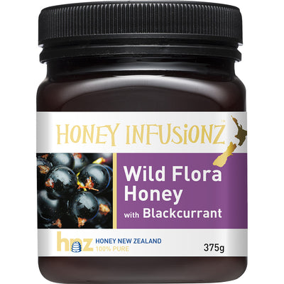 Honey Infusionz Wild Flora Honey with Blackcurrant 375g