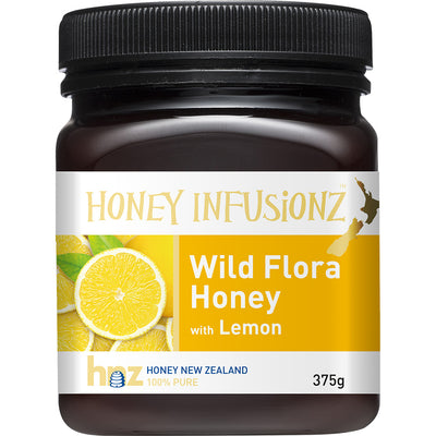 Honey Infusionz Wild Flora Honey with Lemon 375g