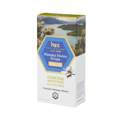 UMF 5+ Manuka Honey Drops with Lemon & Menthol