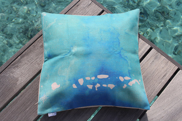 IB Raaje Map cushion