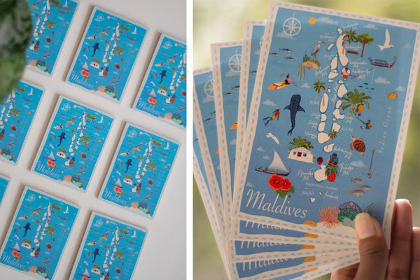 IB Maldies Archipelago Magnet and Postcards