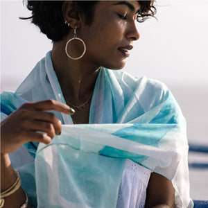 Maldives Map Scarf