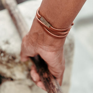 Dhivehiraaje Leather Wrap Bracelet