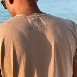 Maldives Map Tshirt Tan