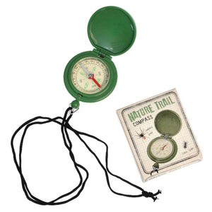 Green nature trail compass and box