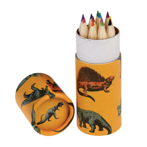 Dinosaur colouring pencils in a tube