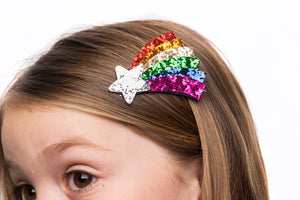 shooting star rainbow hairclip