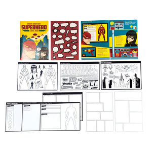 Design a superhero comic book