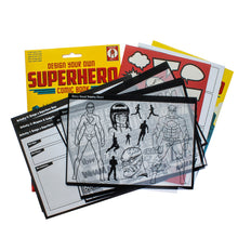 contents of make your own Superhero comic book