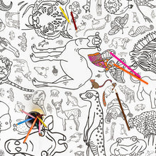 Colour-in poster/ tablecloth - Animals