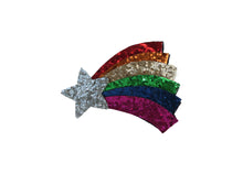 Rainbow shooting star hair clip