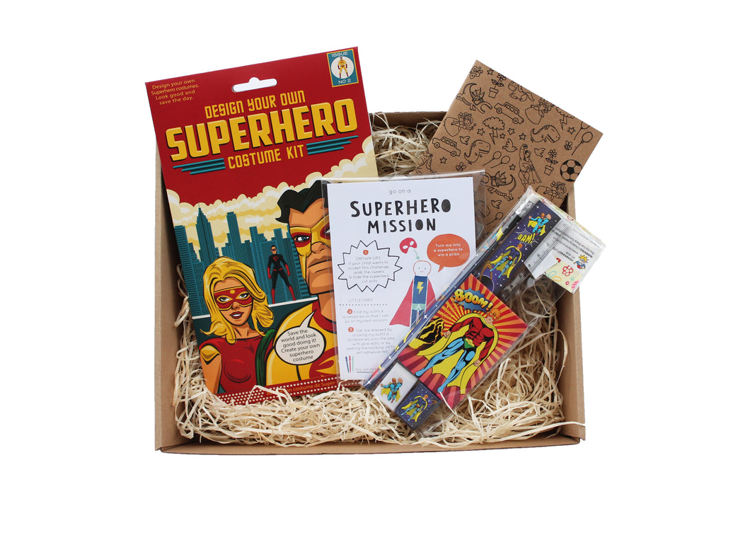 Superhero themed gift box for children - Not another birthday