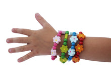 Colourful wooden bracelets