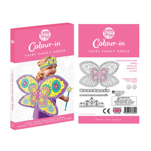 Colour-in Fairy fancy dress