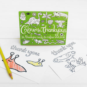 Colour-in thank you cards