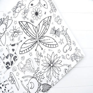 Colour-in Poster / tablecloth  - Teatime