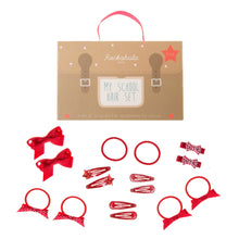 School hair set - Red