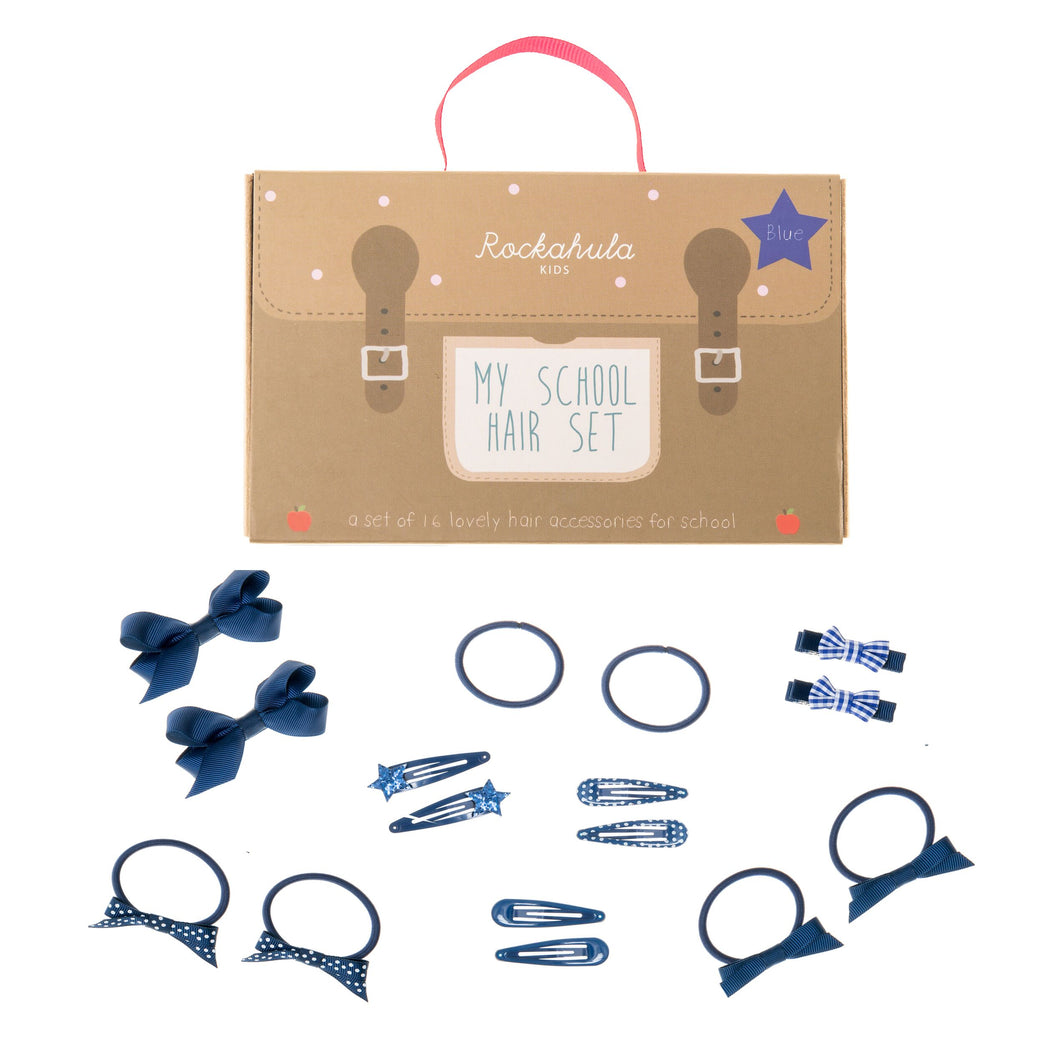 School hair set - Blue