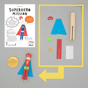 Superhero on a mission activity