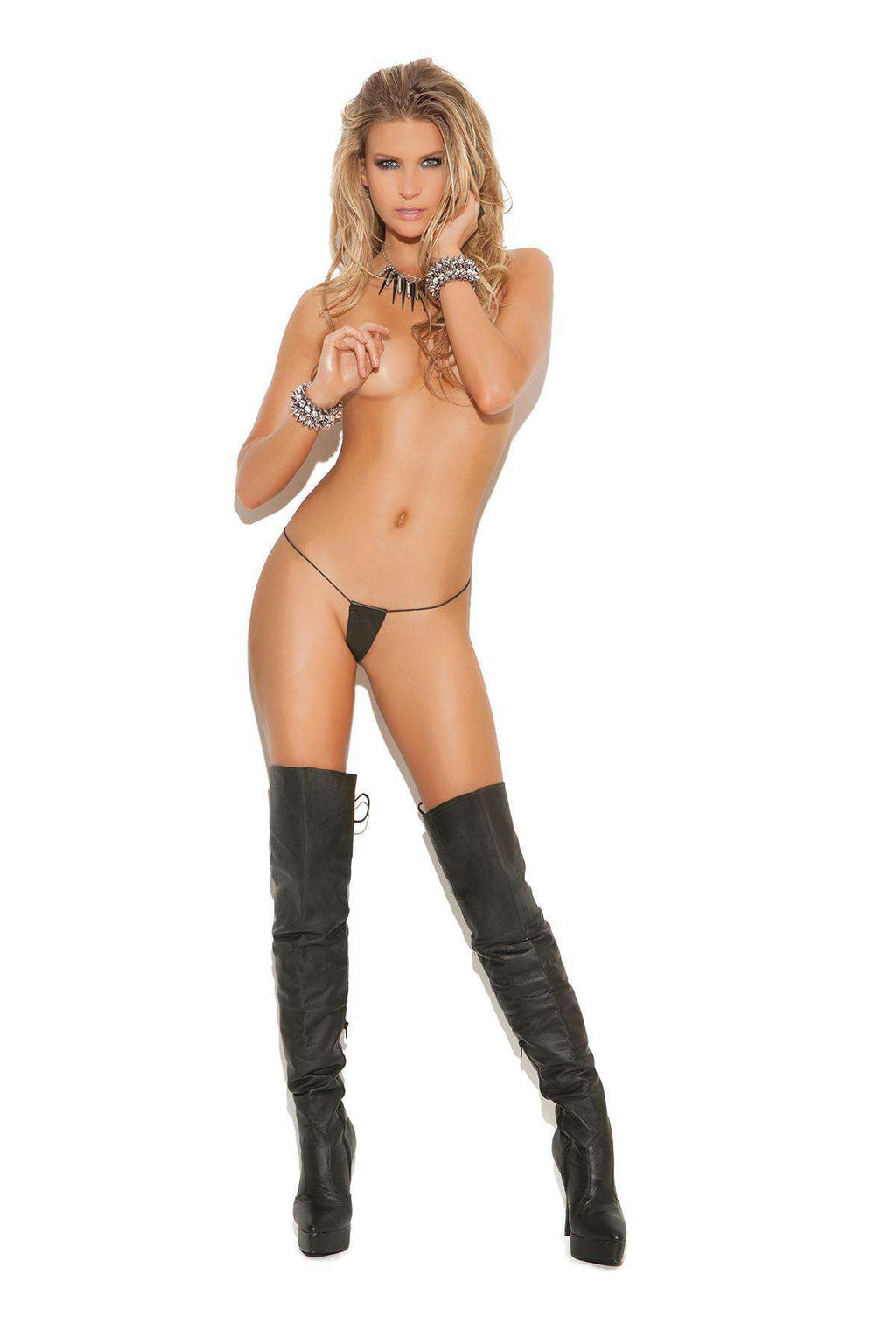 Micro Leather G-string - PlayDivas.com