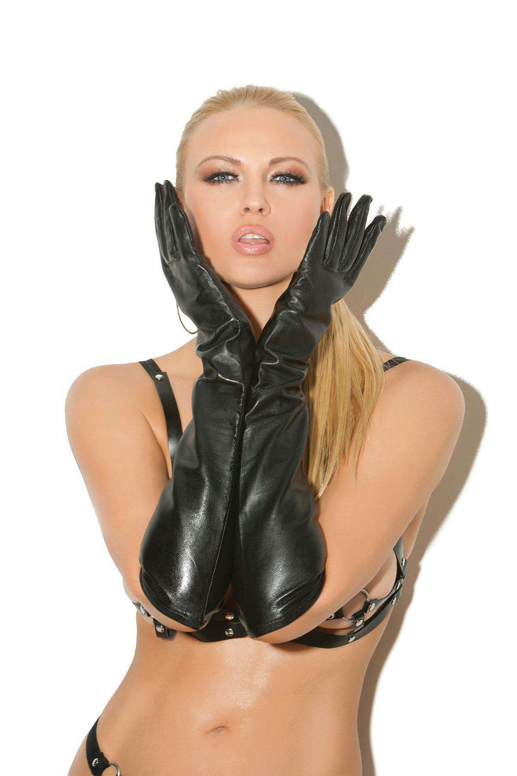 Long Leather Gloves - PlayDivas.com