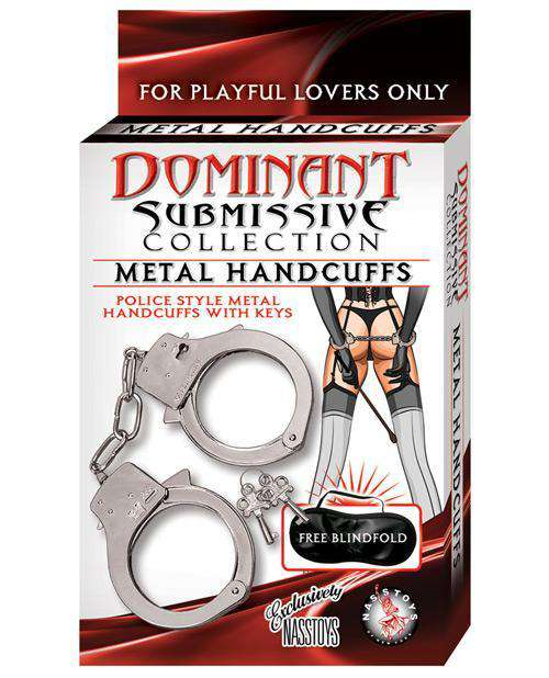 Dominant Submissive Metal Handcuffs - PlayDivas.com