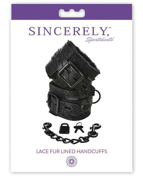 Sincerely Lace Fur Lined Handcuffs - PlayDivas.com