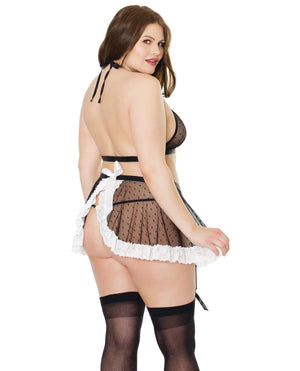 Plus Size French Maid Lingerie Costume - PlayDivas.com