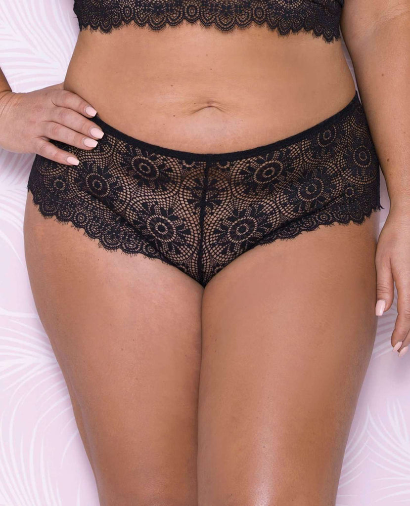 Plus Size Scallop Lace Boyshort - PlayDivas.com