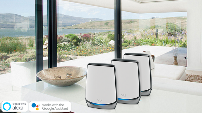 NETGEAR Orbi Tri-band AX6000 Whole Home Mesh WiFi 6 System 3-Pack (RBK853) - anlander.com | English