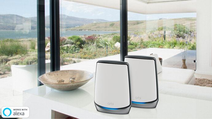 NETGEAR Orbi Tri-band AX6000 Whole Home Mesh WiFi 6 System 2-Pack (RBK852) - anlander.com | English