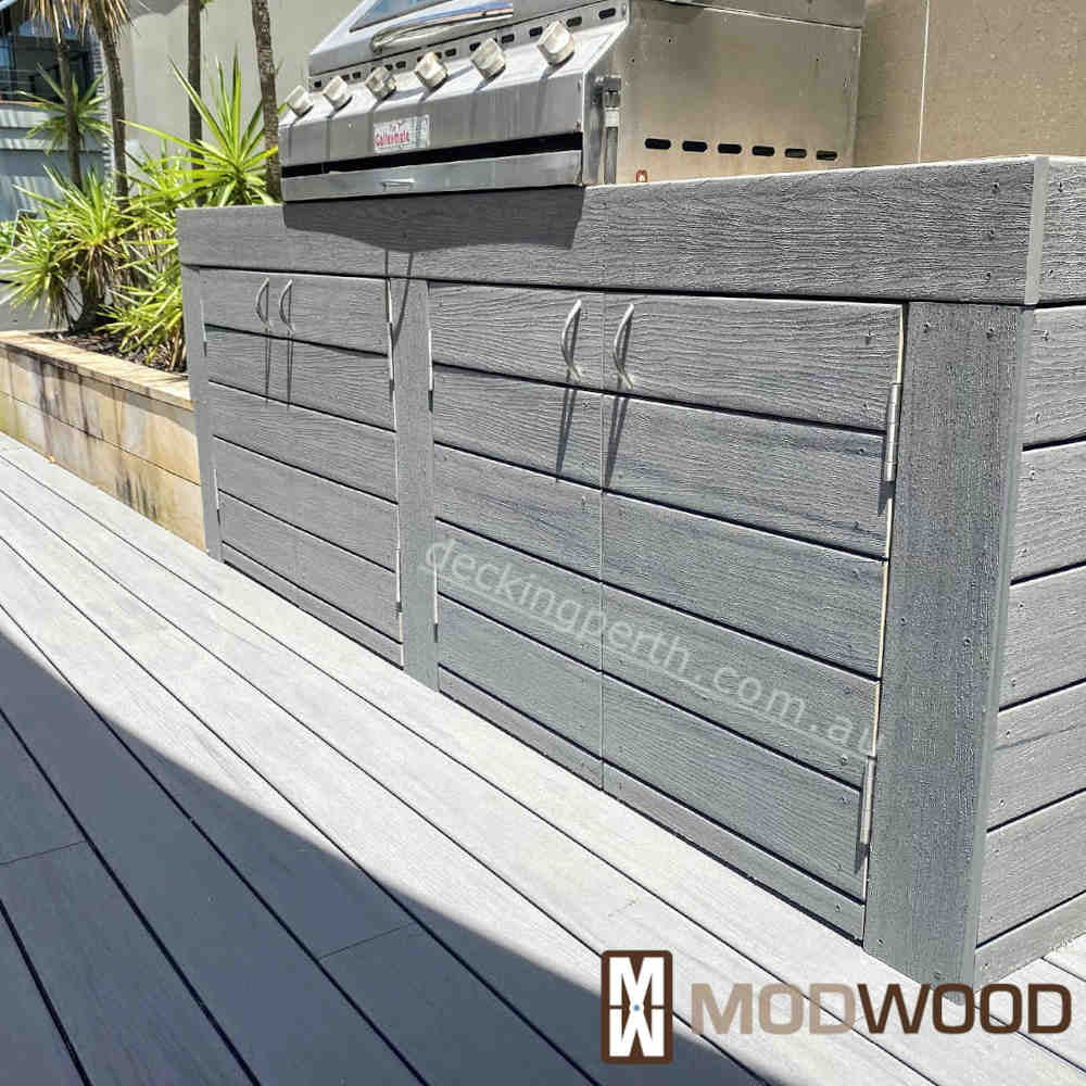 Modwood decking Magnetic Grey BBQ