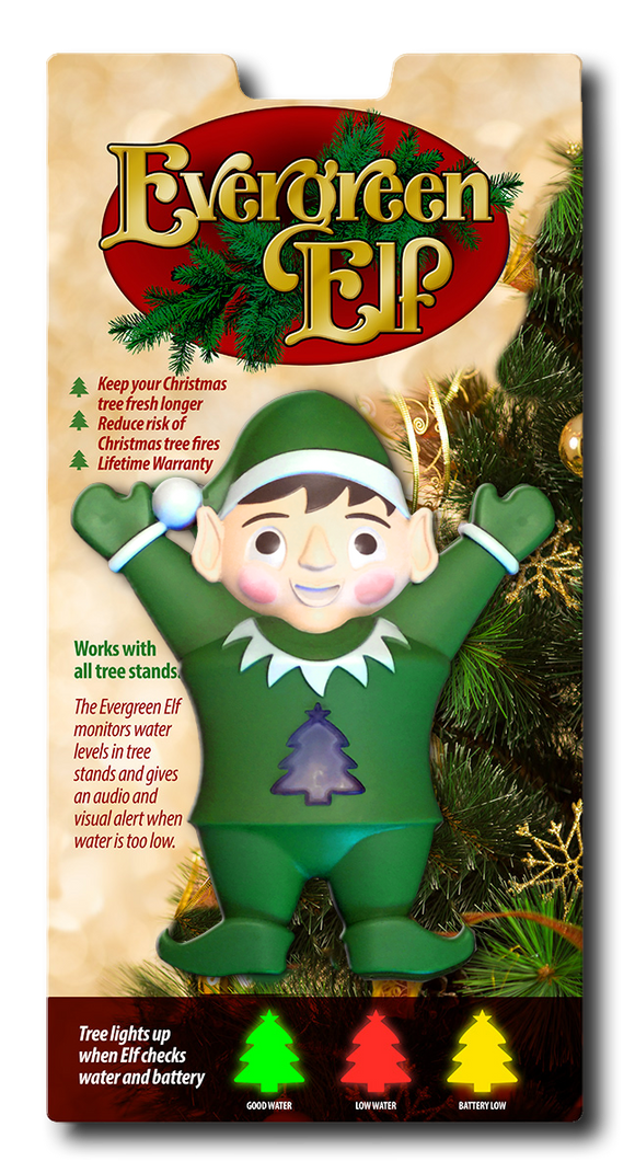Evergreen Elf Christmas Tree Water Alarm