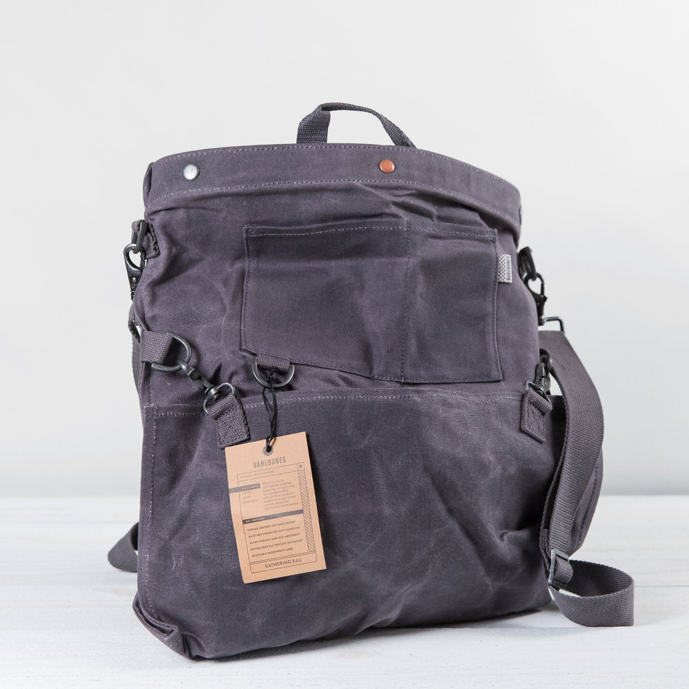 canvas gathering bag