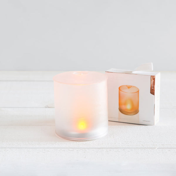 solar candle with amber LED