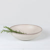 "potter stone gray melaboo 12"" round serving bowl"