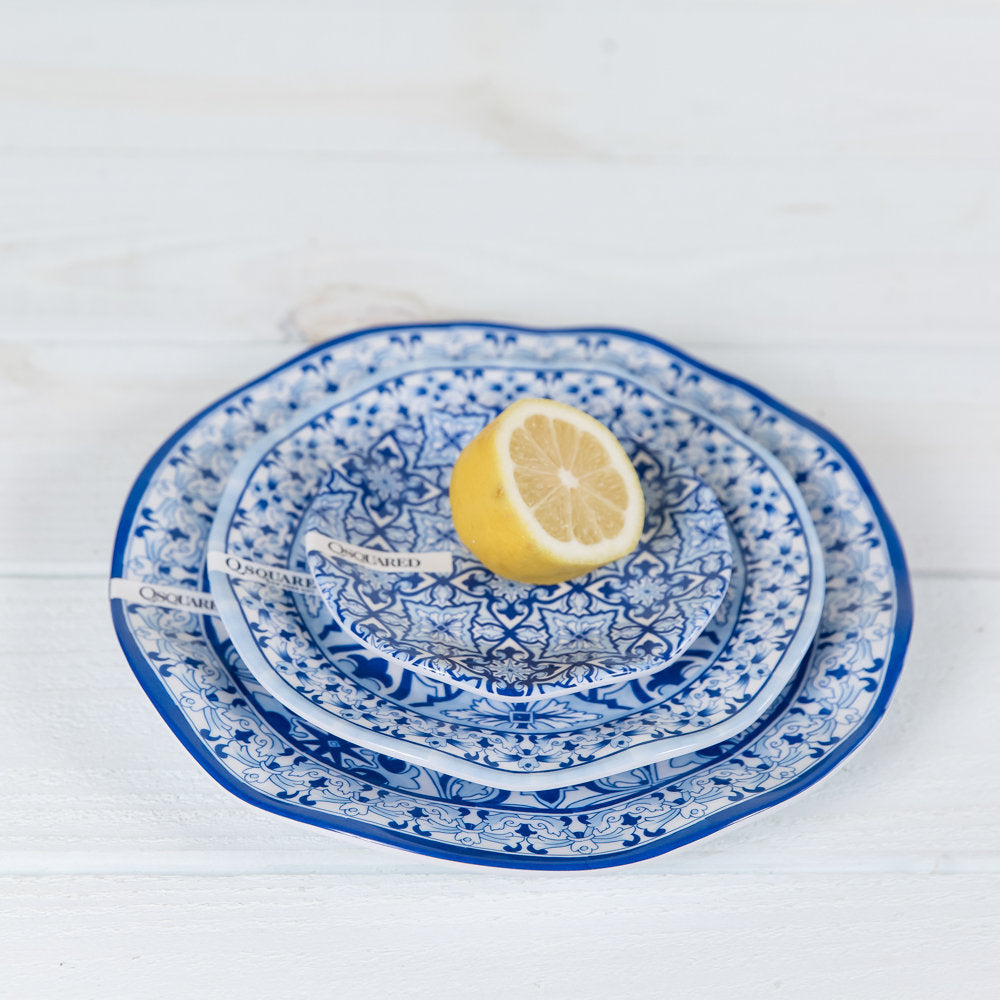 talavera azul dinner plate by Q-Squared